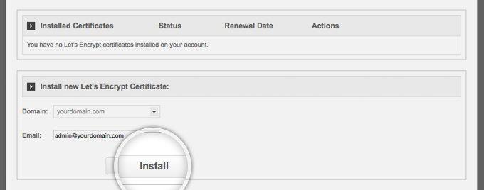 SiteGround Install New SSL Certificate